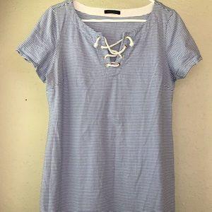 Tommy Hilfiger nautical blue stripes summer dress